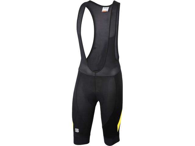 Sportful Neo Bib Shorts Herren black/tweety yellow